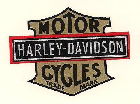 HARLEY DAVIDSON VINTAGE DECALS! 1908 THROUGH 1980'S